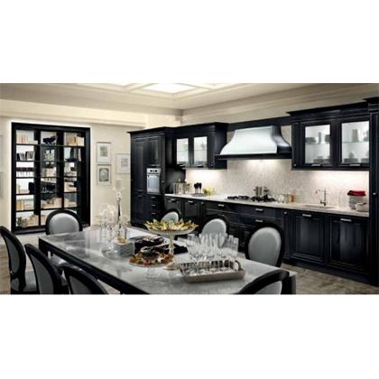 Черная кухня Hermitage-14 в классическом стиле